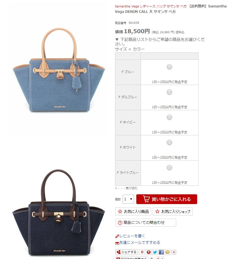 バッグの定価