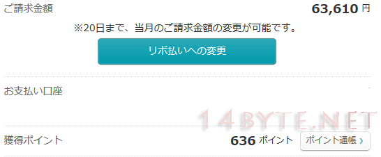 Yahoo!JAPANカードのポイント明細